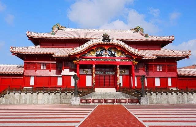 afbeelding Shuri castle traditioneel tempel op Okinawa